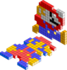 Mario Bros 3d Blocks Clip Art