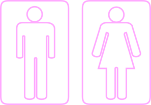 Toilet Outline Pink Clip Art