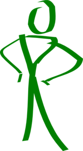 Green Stick Man Clip Art
