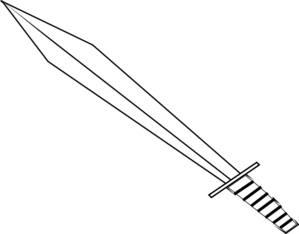 Sword Outline Clip Art At Clker Com Vector Clip Art