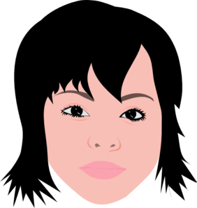 Asian Girl With Short Hair Clip Art