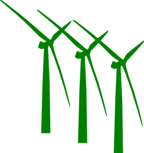 Green Wind Mills Clip Art