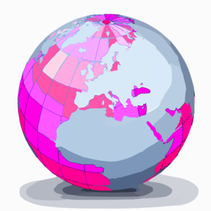 Magenta World Clip Art