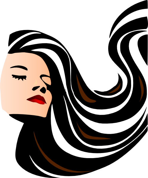 woman with shiny long hair clip art at clker com vector clip art rh clker com disney cartoon girl with long hair beautiful cartoon girl with long hair