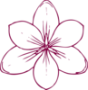 Burgundy Flower Clip Art