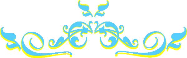 swirl yellow light blue clip art at clker com