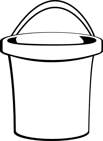 White Bucket Clip Art At Clker Com Vector Clip Art