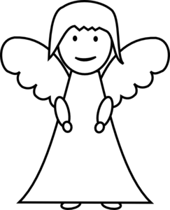 Angel Outline Clip Art