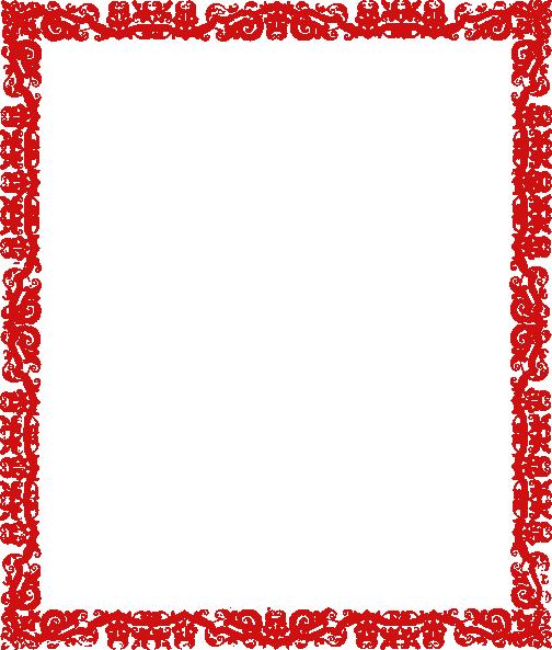 Red Potrait Border Clip Art At Clker.Com - Vector Clip Art Online