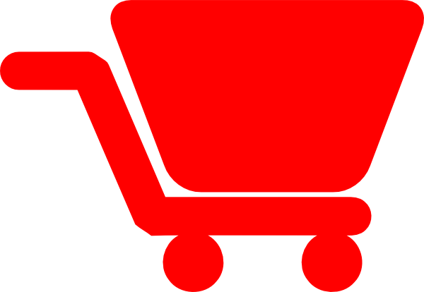 Red Shopping Cart Clip Art at Clker.com - vector clip art online ...