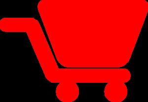 Red Shopping Cart Clip Art at Clker.com - vector clip art online ...