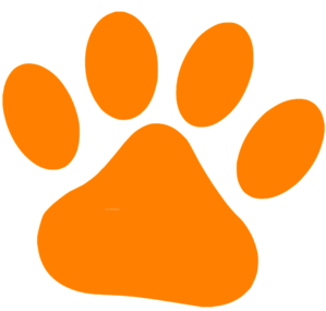 Orange Pet Paw Clip Art