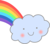 Cute Cloud With Rainbow Clip Art