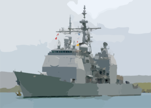 Uss Chosin (cg 65) Returns To Sea. Clip Art