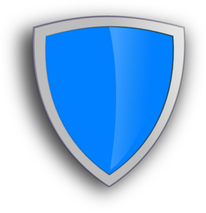Blue Security Shield Clip Art
