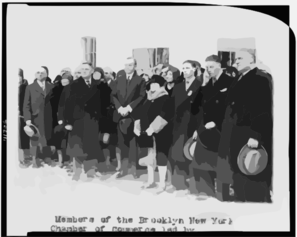 [members Of The Brooklyn New York Chamber Of Commerce Led By Raymond H. Fiero, Posed Standing With President Coolidge] Clip Art