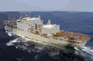 Uss Kitty Hawk Prepares To Pull Alongside The Combat Stores Ship Usns San Jose (t-afs 7) To Participate In An Underway Replenishment  (unrep). Clip Art