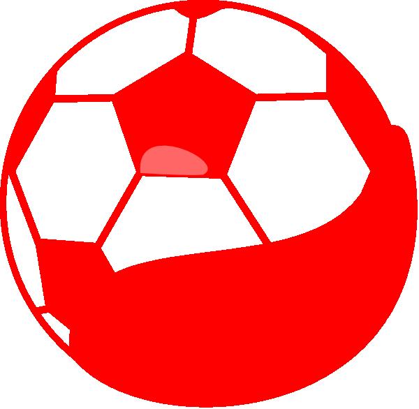Soccer ball red. Soccerball clip art at