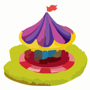 Illustration Of A Carnival Ride Clip Art