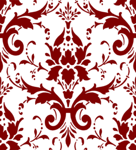 Marroon Damask Clip Art