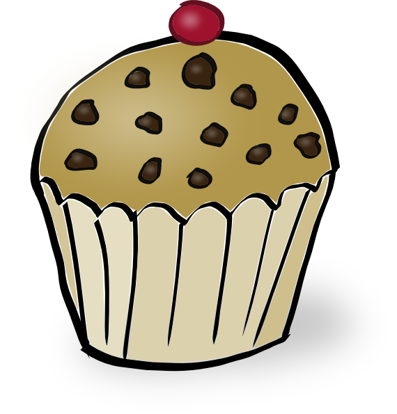 Chocolate Chip Muffin Clip Art at Clker.com - vector clip art online ...