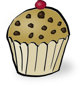 Chocolate Chip Muffin Clip Art
