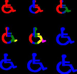 Light Pink Handicapped Symbol Clip Art at Clker.com - vector clip ...