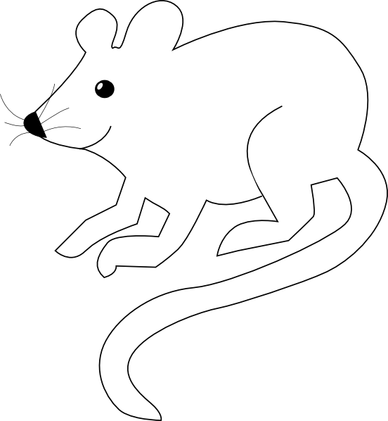 Cute White Mouse Clip Art at Clker.com - vector clip art ...