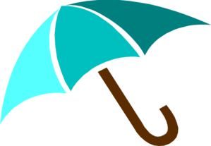 Blue Umbrella Clip Art