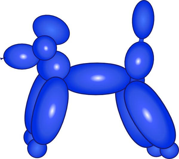Balloon Dog Blue Clip Art at Clker.com - vector clip art online ...