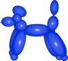 Balloon Dog Blue Clip Art