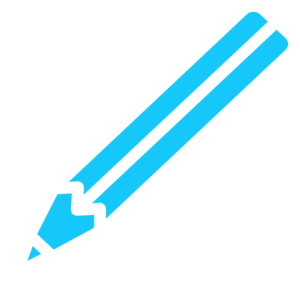 Pencil White Blue Clip Art