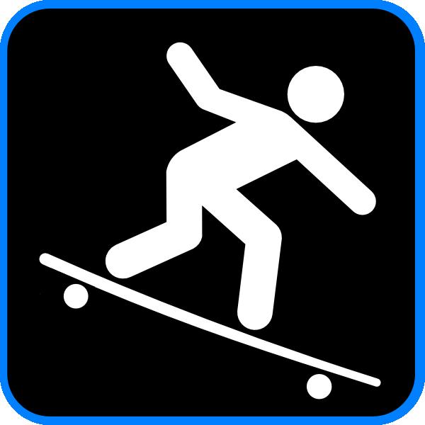 Skateboard Stick Figure Clip Art