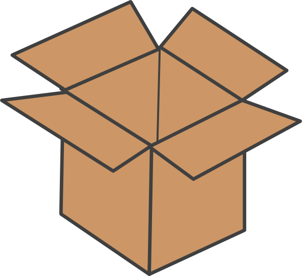 brown box clip art at clker com vector clip art online royalty rh clker com clip art boxes clip art box truck