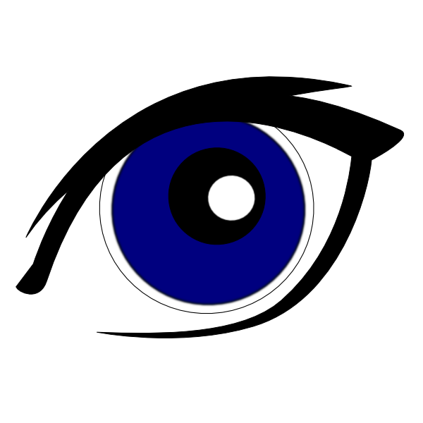 Blue Eye(s) Clip Art at Clker.com - vector clip art online, royalty ...