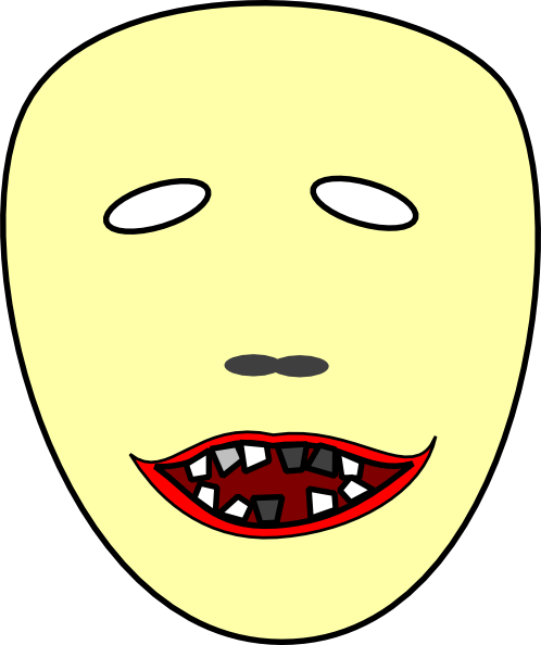 Scary Face Clipart Scary Face 2 Clipart