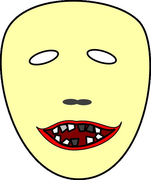 scary face 2 clip art at clker com vector clip art online royalty rh clker com scary halloween cartoon faces scary cartoon ghost faces