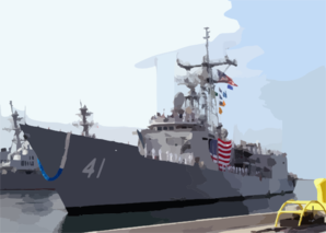 Uss Mcclusky (ffg 41) Pulls Into Her Berth At Naval Station San Diego Clip Art