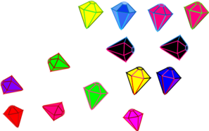 Gems In Pieces Clip Art