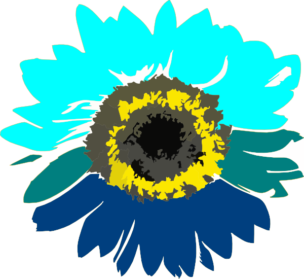 Blue Sunflower Clip Art At Clker Com Vector Clip Art