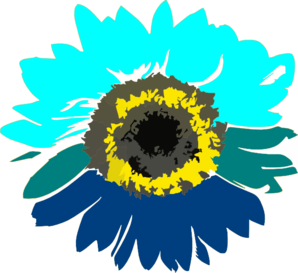 Blue Sunflower Clip Art