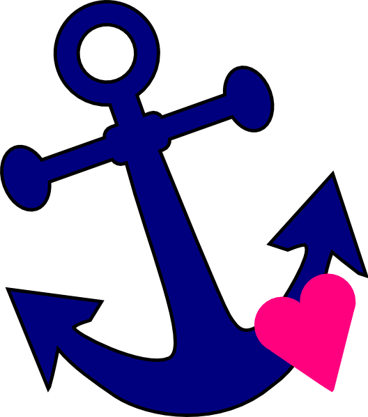 Anchor With Heart Clip Art at Clker.com - vector clip art ...