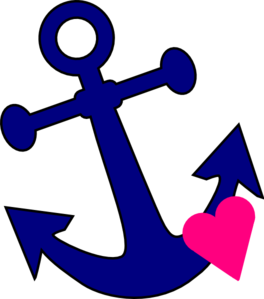 Anchor With Heart Clip Art