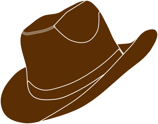 brown cowgirl hat clip art at clker com vector clip art online rh clker com cowgirl hat clipart free cowgirl hat clipart