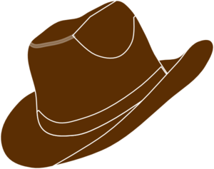 Brown Cowgirl Hat Clip Art