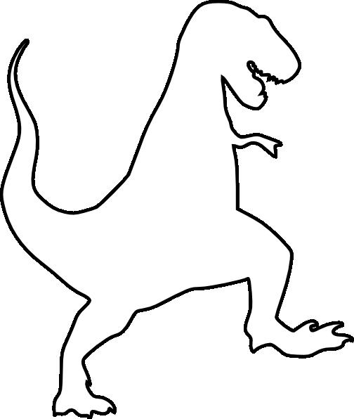 dinosaur clip art outline - photo #9