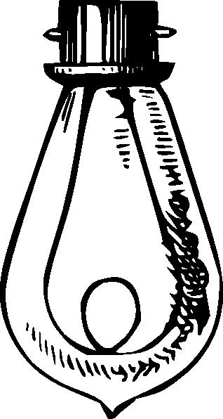 Antique Incandescent Bulb Clip Art At Clker Com Vector