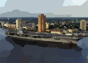 Uss George Washington (cvn 73) Passes Downtown Portsmouth, Va Clip Art