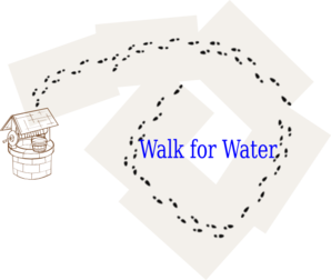 Walk For Water Clip Art