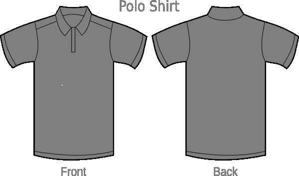 polo shirt grey2 clip art at clkercom vector clip art